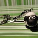 Fehér bárány kulcstartó, Süthető gyurmából, kézzel készült kulcstart...
