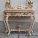 Barokk konzolasztal  - felületkezelve, Bútor, Barokk konzolasztal, felületkezelve megrendelhető.  Egyedi igények alapján antik bútormásolato..., Meska