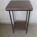 Loft asztalka 14.000 Ft szállítással, Bútor, Otthon, lakberendezés, Asztal, Famegmunkálás, Fémmegmunkálás, Különleges, egyedi loft asztalka, állítható vas lábakkal, különleges hangulathoz :)  magasság: 95,5..., Meska