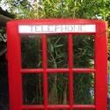 London - telefonfülke  - polc, konzolasztal, Bútor, Polc, Famegmunkálás, Festett tárgyak, Londoni telefonfülkét idéző telefonos polc, konzolasztal. Különleges, egyedi, újragondolt darab. Ré..., Meska