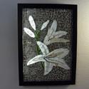 Liliomok - üvegmozaik falikép világítással, Dekoráció, Otthon, lakberendezés, Lámpa, Falikép, Mozaik, Mindenmás, Világító üvegmozaik falikép  mérete:23*32cm  Üveglapra ragasztottam a motívumot üvegmozaik techniká..., Meska