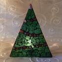 Karácsonyi üvegmozaik mécsestartó, Dekoráció, Ünnepi dekoráció, Karácsonyi, adventi apróságok, Karácsonyi dekoráció, Asztaldísz, Mozaik, Mindenmás, Karácsonyi motívummal díszített üvegmozaik mécsestartó  Négyzet alakú mécsestartóra ragasztott üveg..., Meska