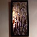 Lila harmónia - üvegmozaik falikép világítással, Dekoráció, Otthon, lakberendezés, Lámpa, Falikép, Mozaik, Mindenmás, Világító üvegmozaik falikép  mérete:25,5*52cm  Üveglapra ragasztottam a motívumot üvegmozaik techni..., Meska