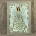 A szeretet angyala - üvegmozaik falikép világítással, Dekoráció, Otthon, lakberendezés, Lámpa, Falikép, Mozaik, Mindenmás, Világító üvegmozaik falikép  mérete:23*32cm  Üveglapra ragasztottam a motívumot üvegmozaik techniká..., Meska