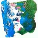 Ébredés, Képzőművészet, Dekoráció, Festmény, Akril, Festészet, farostlemez 15x15 cm akrilfesték, Meska