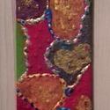 Folt hátán folt, Dekoráció, Képzőművészet, Vegyes technika, Kép, Festett tárgyak, Kerámia, terakottacsempe akril 15x8 cm, Meska