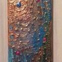 Sugaras, Dekoráció, Képzőművészet, Kép, Napi festmény, kép, 15x7 cm, terrakotta, csempe, akril, Meska