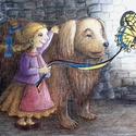 Okos kutya, Baba-mama-gyerek, Dekoráció, Képzőművészet, Gyerekszoba, Festészet, Mindenmás, Egyedi illusztráció alapján készült nyomat, vászonra kasírozva, A/3-as méretben., Meska