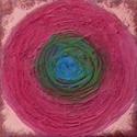 Középpont, Képzőművészet, Dekoráció, Festmény, Akril, Festészet, Mindenmás, vászon, akril, 15x15 cm, Meska