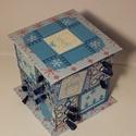 Kék hóemberes adventi naptár, Gyufásdobozból készült adventi naptár. Mind a...