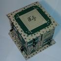 Zöld adventi naptár, Gyufásdobozból készült adventi naptár. Mind a...