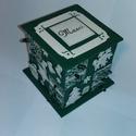 Zöld adventi naptár 2, Gyufásdobozból készült adventi naptár. Mind a...