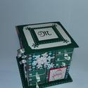 Zöld hópelyhes adventi naptár, Gyufásdobozból készült adventi naptár. Mind a...