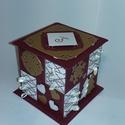 Bordó-arany adventi naptár, Gyufásdobozból készült adventi naptár. Mind a...
