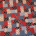 Patchwork takaró, 200 cm x 200 cm-es pöttyös takaró.  A fedőlap ...