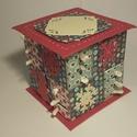 Piros - Zöld adventi naptár, Gyufásdobozból készült adventi naptár. Mind a...