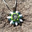 Egyedi gyöngy nyaklánc, Ékszer, Anyák napja, Nyaklánc, Minőségi, cseh gyöngyökből készült nyaklánc, mely tartalmaz Swarovski gyöngyöket és egy d..., Meska