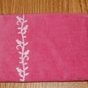 Rózsaszín galambmintás neszesszer, Táska, Neszesszer, Pénztárca, tok, tárca, Ezt a szép rózsaszín galambmintás neszesszert kordbársony anyagból készítettem. A galmbokat ..., Meska
