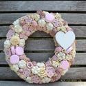 """,,Sweet"""" kopogtató, Otthon, lakberendezés, Ajtódísz, kopogtató, Virágkötés, Ezen kopogtatóval, az igazi rózsaszínkedvelőknek és édességimádóknak szeretnénk kedveskedni, de aká..., Meska"""