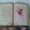 Antik díszkönyv, Dekoráció, Naptár, képeslap, album, Képzőművészet, Kézműves könyvkötéssel készített díszkönyv. Aranyozott lapokkal, arany díszítéssel, színes zsinórral..., Meska