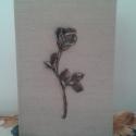 Rózsa veretes fotókönyv, Naptár, képeslap, album, Fotóalbum, Rózsa veretes fotókönyv 18 x 12 cm. Fekete fotókarton lapokkal. 44 kép tárolására szolgál. ..., Meska