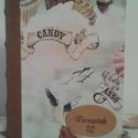 Muffinos recepteskönyv, Karácsonyi, adventi apróságok, Naptár, képeslap, album, Jegyzetfüzet, napló, Valódi bőr bordával készült receptes könyv. 10,5 x 15 cm   120 lapos., Meska