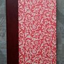 Régi mintás napló, Naptár, képeslap, album, Jegyzetfüzet, napló, Kézműves könyvkötéssel készült színes napló. Métere: 14 cm - X - 21 cm 100 lapból  áll. Régi színes ..., Meska