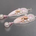 Igazgyöngy -   gyöngy hímzett fülbevaló, Nagyon nőies, csodaszép fülbevalót készített...