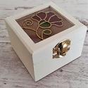 Mini vintage ajándék  gyűrűtartó doboz Szegfű, Esküvő, Gyűrűpárna, Esküvői dekoráció, Kézműves termék, mely tökéletes ajándék szeretteinknek, legyen szó bármilyen ünnepélyes a..., Meska