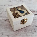 Mini vintage ajándék  gyűrűtartó doboz Magyaros, Esküvő, Gyűrűpárna, Esküvői dekoráció, Kézműves termék, mely tökéletes ajándék szeretteinknek, legyen szó bármilyen ünnepélyes a..., Meska