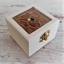 Mini vintage ajándék  gyűrűtartó doboz Orchidea, Esküvő, Gyűrűpárna, Esküvői dekoráció, Kézműves termék, mely tökéletes ajándék szeretteinknek, legyen szó bármilyen ünnepélyes a..., Meska