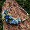 Apró kék-zöld virágok hajpánt, Baba-mama-gyerek, Esküvő, Ruha, divat, cipő, Hajdísz, ruhadísz, Virágkötés, Aprócska kék és zöld virágokból álló kedves, vidám hajpánt füzérrel. Babafotózásra, koszorúslányokn..., Meska