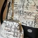 Táska és tárca, Táska, Válltáska, oldaltáska, Tarisznya, Neszesszer, Varrás, Szettben készítettem ezt a táskát, melyet nagy gondossággal varrtam. Egy kis tárcát is ajánlok hozz..., Meska