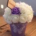 'Gratulálok' Rózsa, Dekoráció, Otthon, lakberendezés, Esküvő, Ünnepi dekoráció, Asztaldísz, Virágkötés, Ajándék ötlet! Kérheted a következő feliratokkal:Isten hozott, Szeretlek, Boldog Névnapot, Gratul..., Meska
