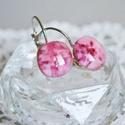 Pink bubbles francia kapcsos üveg fülbevaló, Ékszer, óra, Ruha, divat, cipő, Fülbevaló, Ékszerkészítés, Üvegművészet, Buborékokkal teli, élénk rózsaszín üvegből készült francia kapcsos fülbevaló.  Nőies darab a hétköz..., Meska