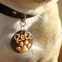 Kutyáknak és cicáknak rendelhető medál, Állatfelszerelések, Ékszer, óra, Medál, Gyurma, A képen a mi kis kedvencünk látható, Reti. :) Aki imádja, ha valami új dologgal lepem meg! :)  FIGY..., Meska
