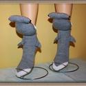Pörölycápa zokni , Mindenmás, Ruha, divat, cipő, Furcsaságok, Rendelésre készülő pörölycápa zokni.   , Meska