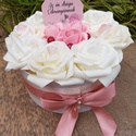 Rózsabox, Otthon & Lakás, Dekoráció, Díszdoboz, Mindenmás, Egyedi elképzelések alapján készítek rózsaboxokat habrózsából. Választható a doboz és a rózsa méret..., Meska