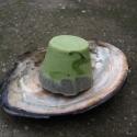 Chlorellás-holt tengeri iszapos kókusztejszappan sheavajjal, Szépségápolás, Szappan, tisztálkodószer, Növényi alapanyagú szappan, Ezt a szappant kifejezetten saját használatra készítettem, a kedvenc alapanyagaimat tartalmazza:) A ..., Meska