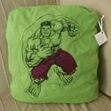 Hulk párna, Férfiaknak, Otthon, lakberendezés, Baba-mama-gyerek, Gyerekszoba, Varrás, Szuperhős rajongók figyelmébe ajánlom legújabb Hulk párnámat. Eredetileg gyerekeknek alvós párnának..., Meska