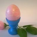 Rózsaszín antik hatású fa tojás, Dekoráció, Konyhafelszerelés, Dísz, Ünnepi dekoráció, Rózsaszín antik hatású fa tojás egy különleges asztali dekoráció, akril festékkel és lakk..., Meska