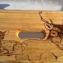 Őzikés fa sámli, Bútor, Szék, fotel, Őzikés fa sámli egy békés erdőbéli pillanatot hoz otthonába, dekoratív és masszív egyben. Nyugodtan ..., Meska
