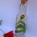 Táncoló pipacsok váza, Dekoráció, Otthon, lakberendezés, Dísz, Kaspó, virágtartó, váza, korsó, cserép, Táncoló pipacsok váza egy dekoratív otthoni kiegészítő, vázaként vagy csak díszként is rendkívül mut..., Meska