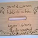 Népies sámli, Bútor, Magyar motívumokkal, Otthon, lakberendezés, Szék, fotel, Népies sámli egy dekoratív fa sámli, amely motívumaival és szövegével meghittséget és hagyományos ér..., Meska
