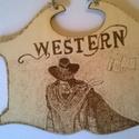 Westernes kép, Férfiaknak, Otthon, lakberendezés, Dekoráció, Falikép, Famegmunkálás, Fotó, grafika, rajz, illusztráció, Westernes kép egy dekoratív fali kép amely remekül mutat egy férfi szobában vagy egy szórakozó hely..., Meska