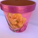 Pasztell rózsás kaspó , Dekoráció, Otthon, lakberendezés, Kaspó, virágtartó, váza, korsó, cserép, Pasztell rózsás kaspó egy dekoratív virág kaspó amely finom színeivel remek lakáskiegészít..., Meska