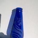 Sziámi macskás kék üveg, Dekoráció, Otthon, lakberendezés, Dísz, Kaspó, virágtartó, váza, korsó, cserép, Üvegművészet, Fotó, grafika, rajz, illusztráció, Sziámi macskás kék üveg egy dekoratív lakás dísz, amely vázaként is megállja a helyét.Kék üveg 6 cm..., Meska