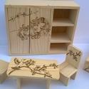 Bababútor kis hercegnőknek, Játék, Baba, babaház, Fajáték, Famegmunkálás, Fotó, grafika, rajz, illusztráció, Bababútor kis hercegnőknek egy dekoratív édes kis fa játék amellyel öröm a játék. Pirográf techniká..., Meska