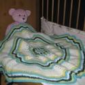 Csodálatos kisfiús babatakaró, Baba-mama-gyerek, Falvédő, takaró, Gyerekszoba, Takaró, ágytakaró, Bababarát fonalból horgoltam ezt a kisfiús babatakarót. Mérete 70X70cm , és kocsitakarónak is..., Meska