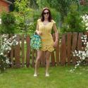 Mini nyári ruha a nap sugarában, Ruha, divat, cipő, Női ruha, Ruha, Pamut viszkóz kevert fonalból van ez a gyönyörű mini ruha amit a vállpánt, és alsó bordűr ..., Meska
